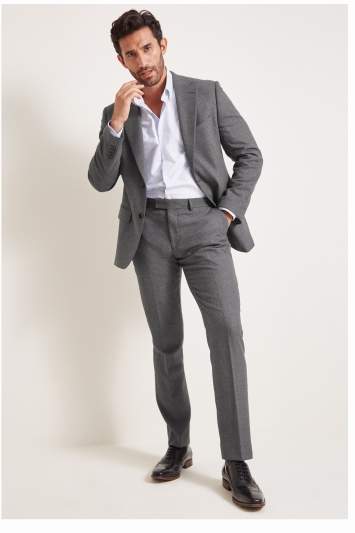 Moss 1851 Tailored Fit Grey Textured Jacket