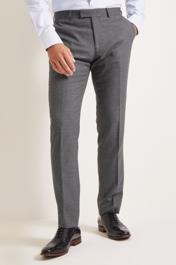 Moss 1851 Tailored Fit Grey Textured Trousers