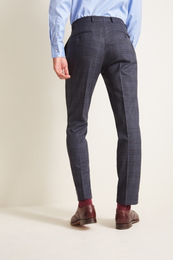 Moss 1851 Tailored Fit Textured Grid Check Trousers