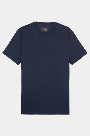 Moss London Navy Short-Sleeve Crew-Neck T-Shirt