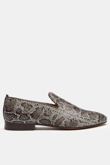 H by Hudson Bolton Snakeskin Saddle Loafer
