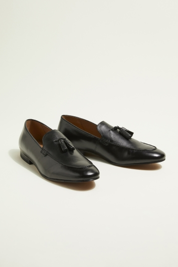 H by Hudson Bolton Black Tassel Loafer