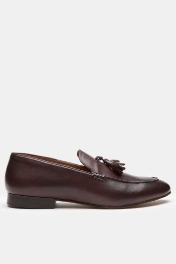 H by Hudson Bolton Burgundy Tassel Loafer