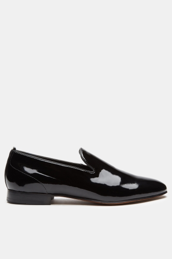 H by Hudson Bolton Black Patent Loafer