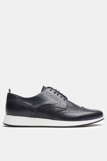 Moss 1851 Toorak Navy Brogue Trainer