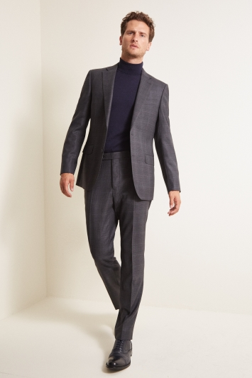Ermenegildo Zegna Cloth Tailored Fit Grey Check Jacket