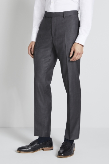 Lanificio F.lli Cerruti Dal 1881 Tailored Fit Charcoal Texture Trousers