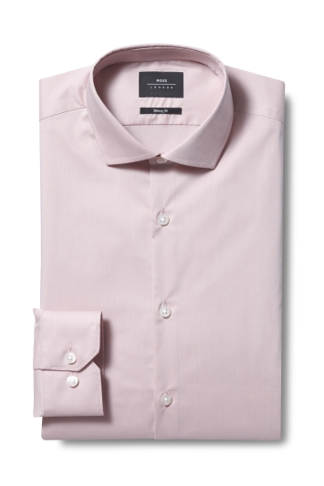 Moss London Skinny Fit Dusty Pink Single Cuff Stretch Shirt