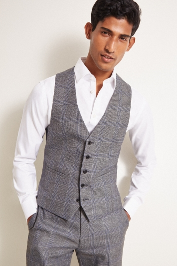 Moss London Slim Fit eco Grey Check Jacket
