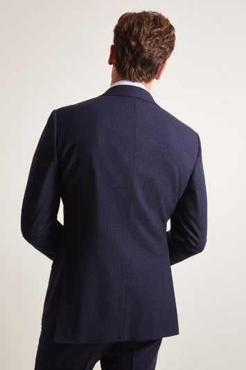 Ermenegildo Zegna Cloth Tailored Fit Blue Puppytooth Jacket