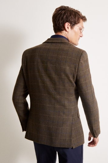 Moss 1851 Tailored Fit Green Multi Check Jacket