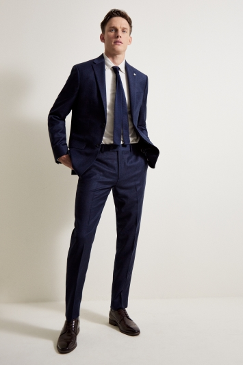 Ted Baker Tailored Fit Oversized Blue Check Jacket