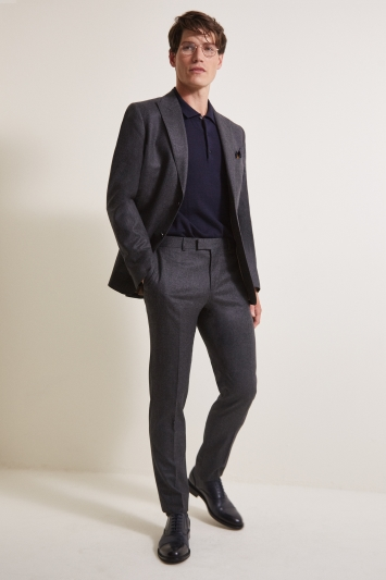 Barberis Tailored Fit Grey Flannel Jacket