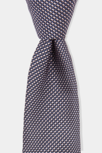 Hugo by Hugo Boss Light Pink Jacquard Silk Tie