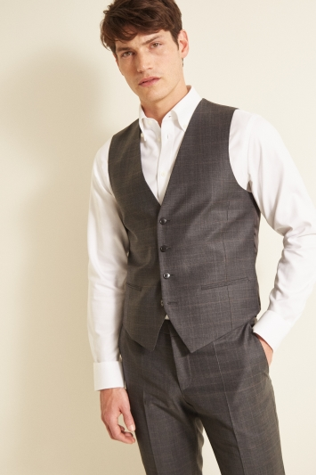 Hugo by Hugo Boss Tailored Charcoal Check Waistcoat