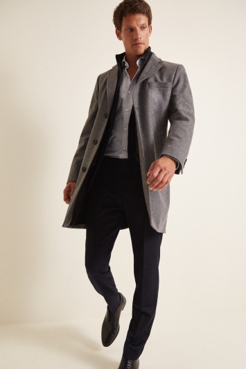 HUGO by Hugo Boss Grey Milogan Overcoat