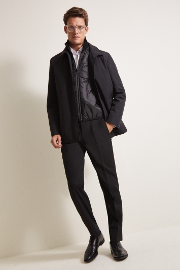 HUGO by Hugo Boss Black Barelto Nylon Overcoat