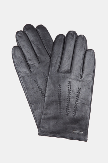 Hugo Boss Black Leather Gloves