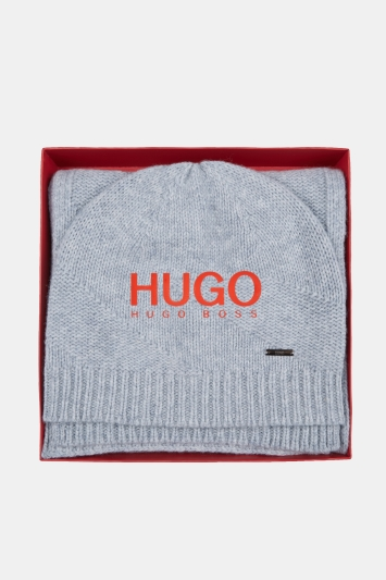 HUGO by Hugo Boss Grey Scarf and Hat Set
