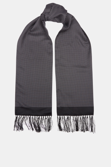 Moss London Black Pin Dot Dress Scarf