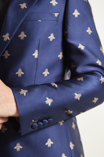 Moss London Slim Fit Bees & Stars Dresswear Jacket