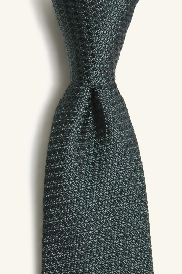 Moss London Dark Green Textured Tie