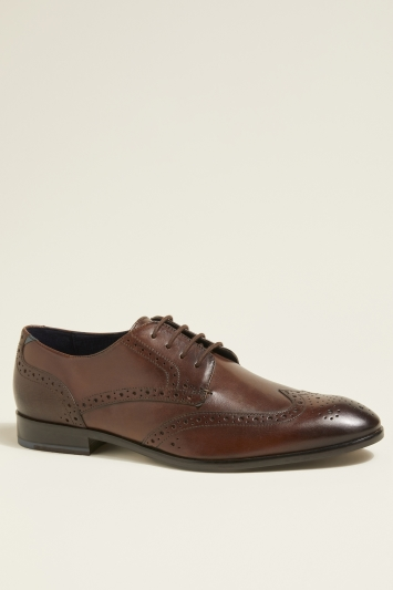 Ted Baker Trvss Brown Brogue Derby