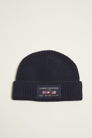 Tommy Hilfiger Navy Outdoors Patch Beanie