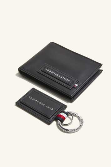 Tommy Hilfiger Black Wallet & Key Fob Box Set