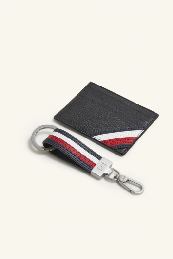 Tommy Hilfiger Black Downtown Cardholder & Keyring Box Set