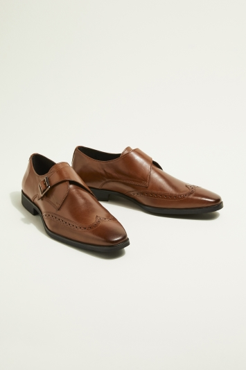 Moss London Rye Brown Single-Buckle Monk Shoe