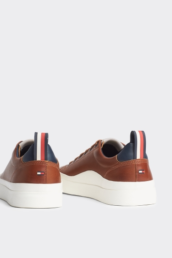 Tommy Hilfiger Brown Vulcanised White Sole Trainer