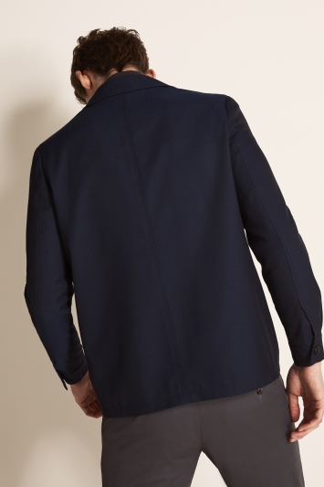 Moss London Slim Fit Ink Blue Button Through Shacket