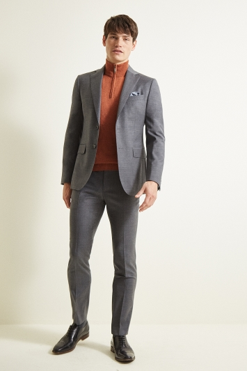 Moss 1851 Slim Fit Grey Twill Jacket