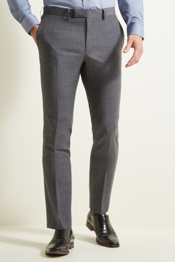 Moss 1851 Slim Fit Grey Twill Trousers