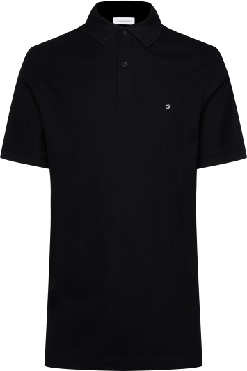 Calvin Klein Black Pique Slim-Fit Polo Shirt