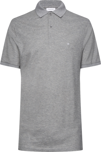 Calvin Klein Mid-Grey Pique Slim-Fit Polo Shirt