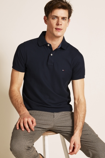 Tommy Hilfiger Navy Core Slim-Fit Polo Shirt