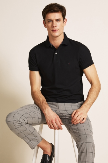 Tommy Hilfiger Black Core Slim-Fit Polo Shirt
