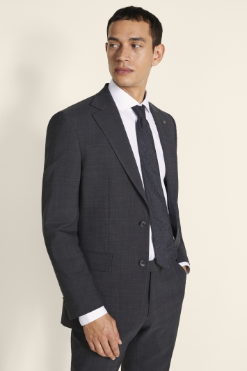 Ted Baker Alter Eco Tailored Fit Grey Pindot Jacket