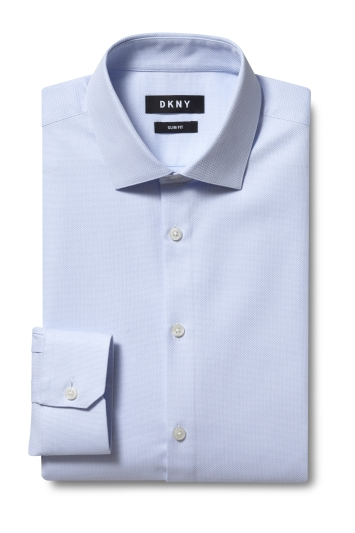 DKNY Slim Fit Sky Single Cuff Dobby Shirt