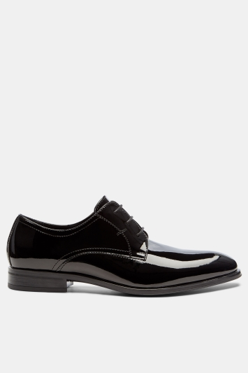 Moss London Mayfair Black Patent Dress Shoe