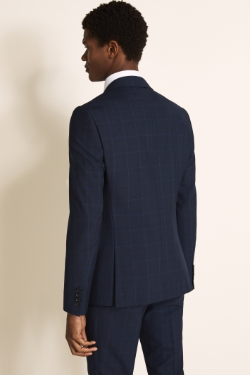 DKNY Slim Fit Blue Check Jacket