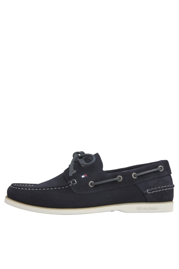 Tommy Hilfiger Navy Classic Suede Boat Shoe