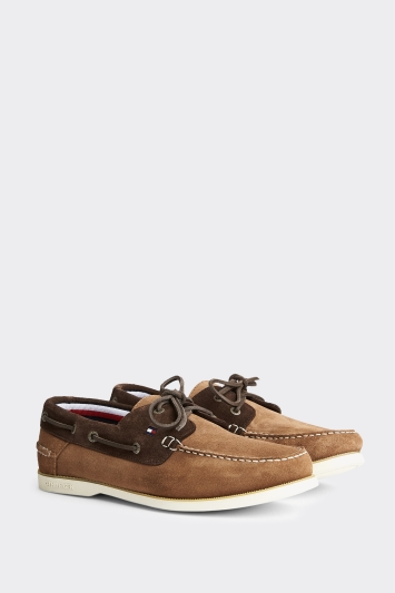 Tommy Hilfiger Khaki Classic Suede Boat Shoe