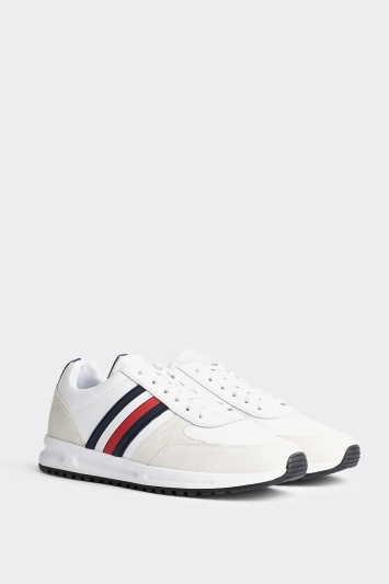 Tommy Hilfiger White Modern Corporate Leather Trainer