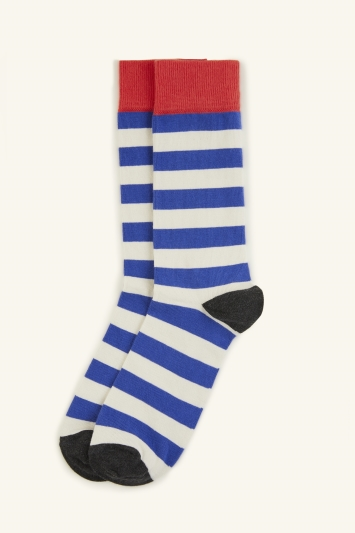 HS by Happy Socks Blue with White Stripe Sock