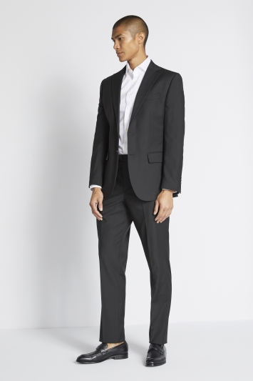 Moss 1851 Tailored Fit Black Stretch Jacket