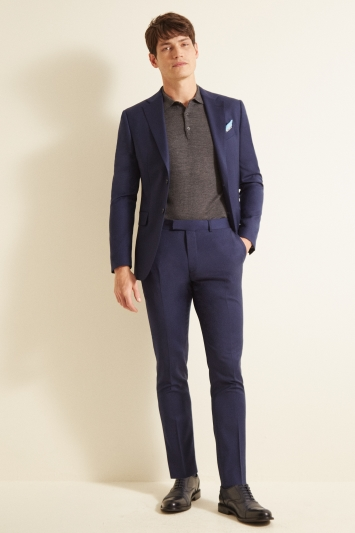 Moss 1851 Slim Fit Navy Twill Jacket