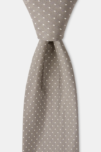 HUGO by Hugo Boss Silver Pindot Tie